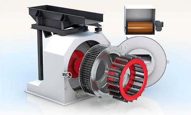 Hombak | Maschinen- und Anlagenbau: Knive ring flaker
